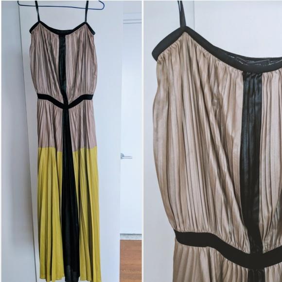 3ddd7e0655b BCBGMaxAzria Dresses   Skirts - BCBG Yellow pleated ombre maxi dress